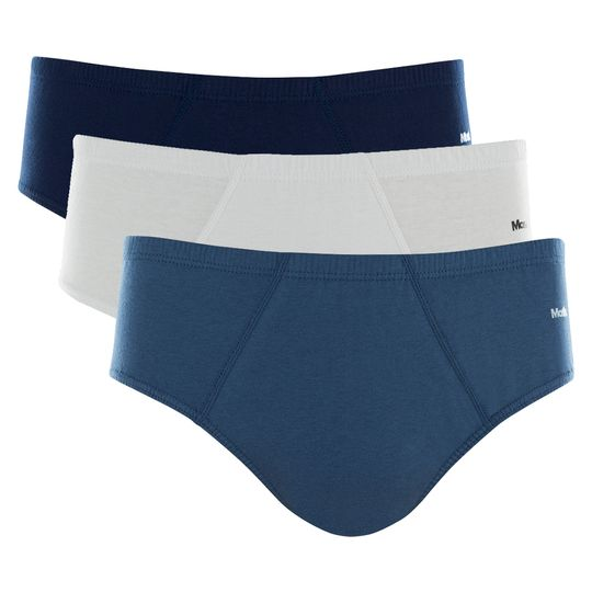 aa051847224 ... KIT 3 CUECAS SLIP ALGODÃO Azul jeans M ...