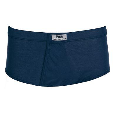 Cueca Slip Algodão Com Abertura Azul Marinho Mash