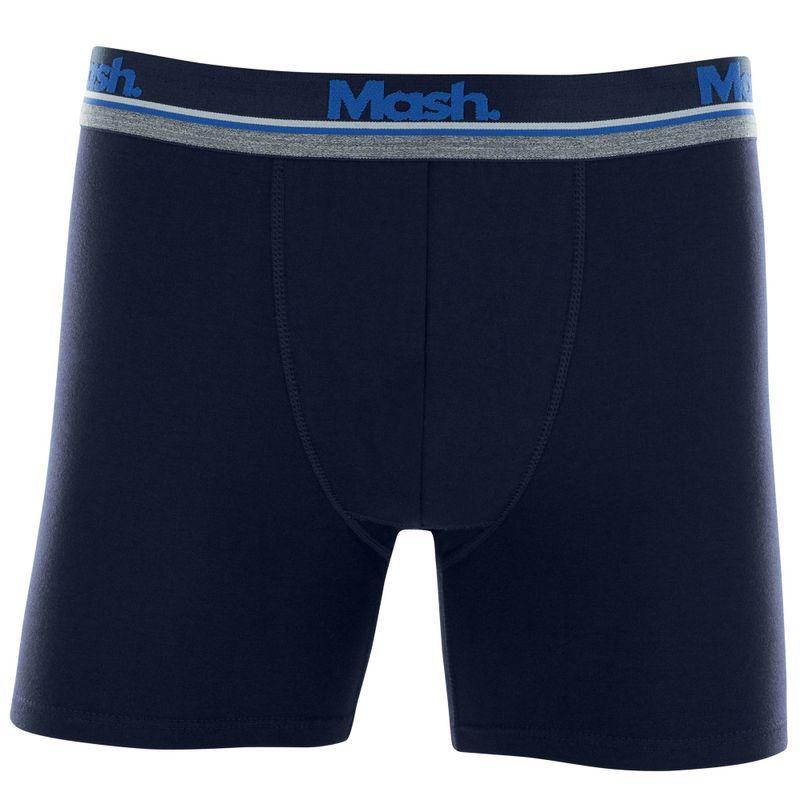 Cueca Boxer Longa Cotton Azul Escuro Mash
