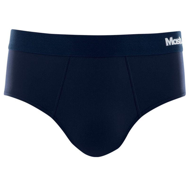 Cueca Slip Microfibra Azul Marinho Mash