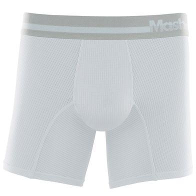 Cueca Boxer Longa Microfibra Active Branco Mash