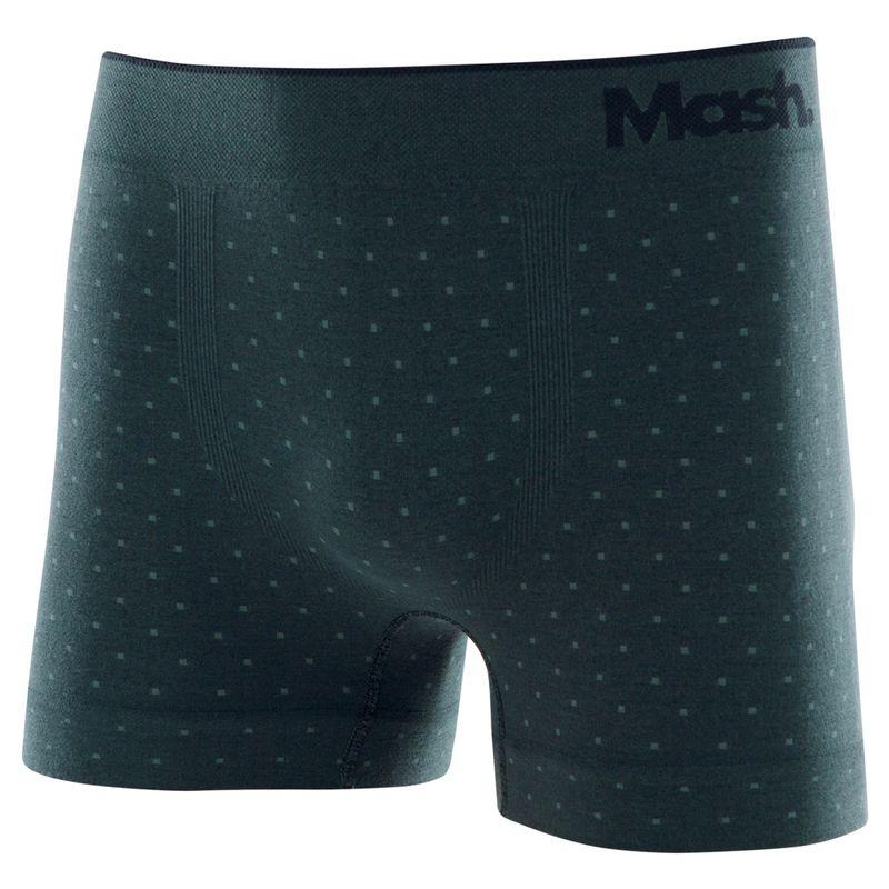 Cueca Boxer Microfibra Sem Costura Verde Militar Escuro Mash