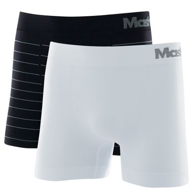 Kit 2 Cuecas Boxer Microfibra Sem Costura Preto Mash