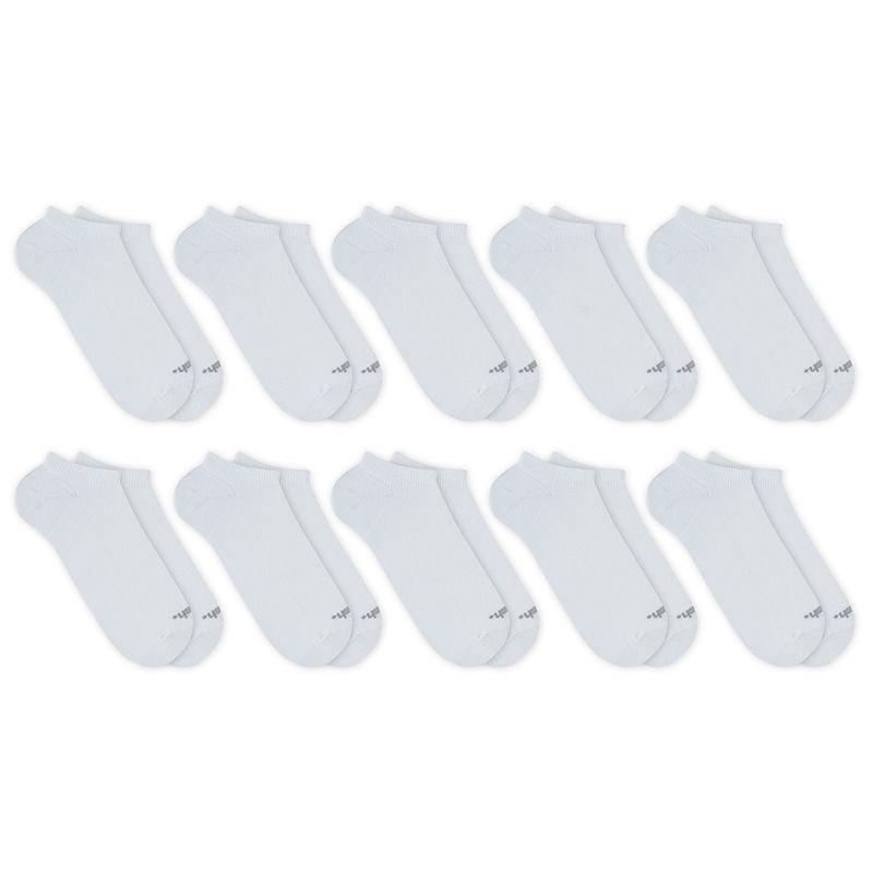Kit 10 Pares Meia Esportiva Invisível Branco Mash