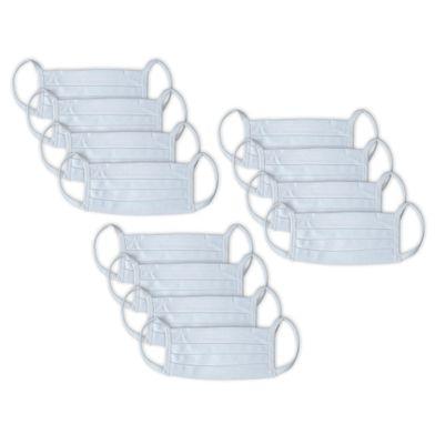 Kit 12 Máscaras de Proteção Respiratória Branca Mash