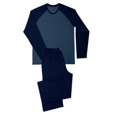 Conj. Pijama Viscose Manga Longa Azul Marinho Mash