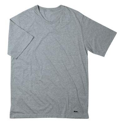 Camiseta Algodão Manga Curta Cinza Mescla Claro Mash
