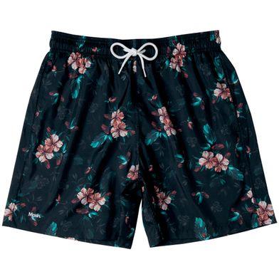 Shorts Estampado Floral FPS 30 Preto Mash