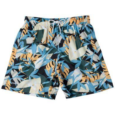 Shorts Estampado Folhagem FPS 30 Azul Claro Mash
