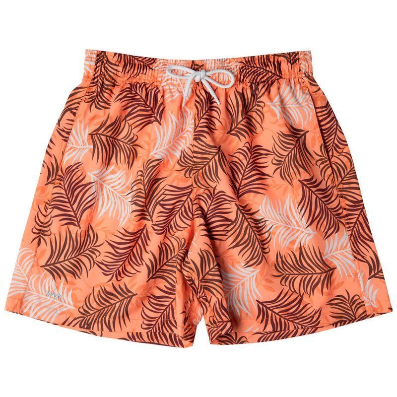 Shorts Estampado Folhagem Color FPS 30 Laranja Mash