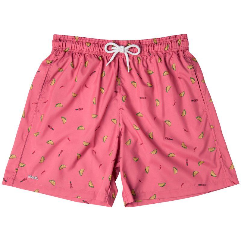 Shorts Estampado Foods FPS 30 Rosa Medio Mash