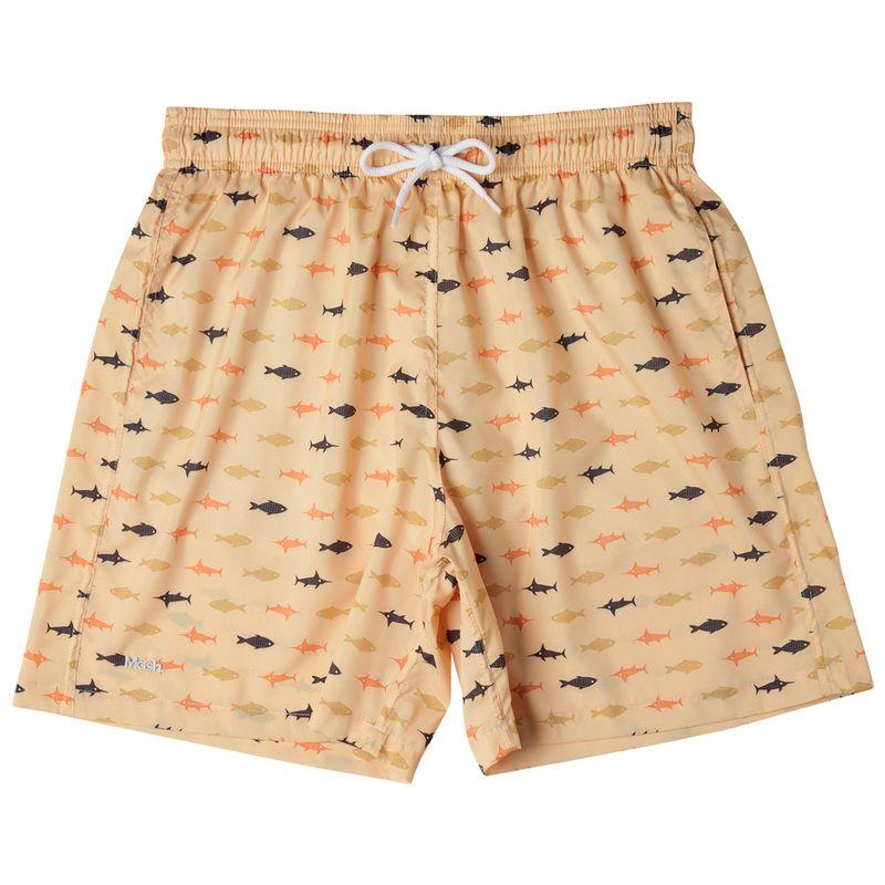 Shorts Estampado Peixes FPS 30 Amarelo Claro Mash