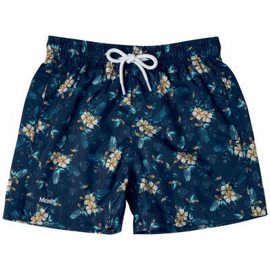 Shorts Estampado Floral FPS 30 Infantil Azul Marinho Mash