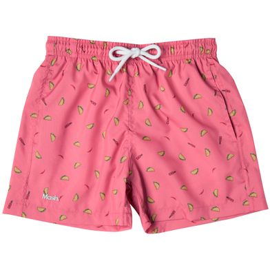 Shorts Estampado Foods FPS 30 Infantil Rosa Medio Mash