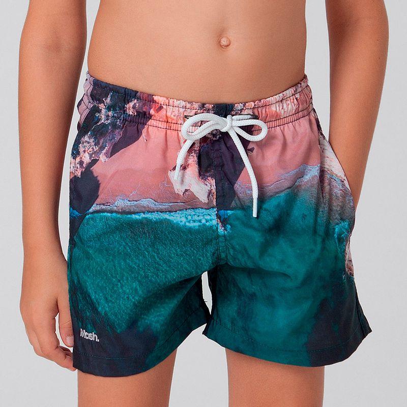 Shorts Estampado Paisagens FPS 30 Infantil Mash