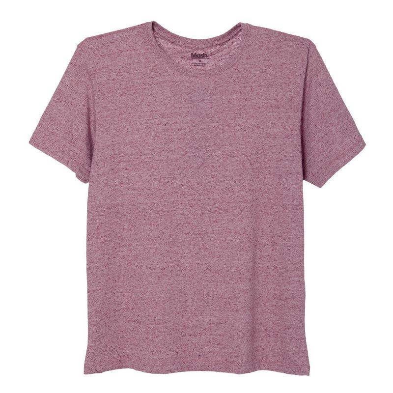 Camiseta Lisa Malha Botone Vermelho Bordo Mash