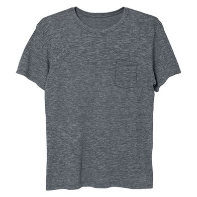 Camiseta Com Bolso Lisa Cinza Chumbo Mash
