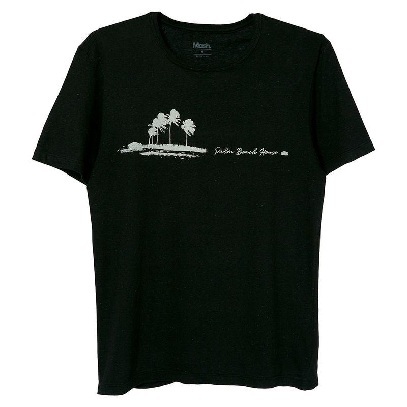Camiseta Palm Beach Mash Preto