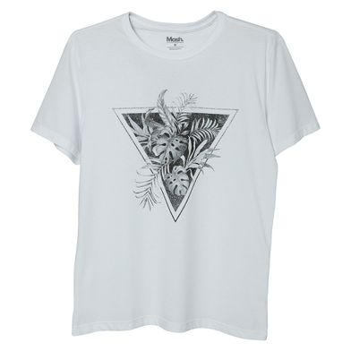 Camiseta Estampada Triangulo Branco Mash