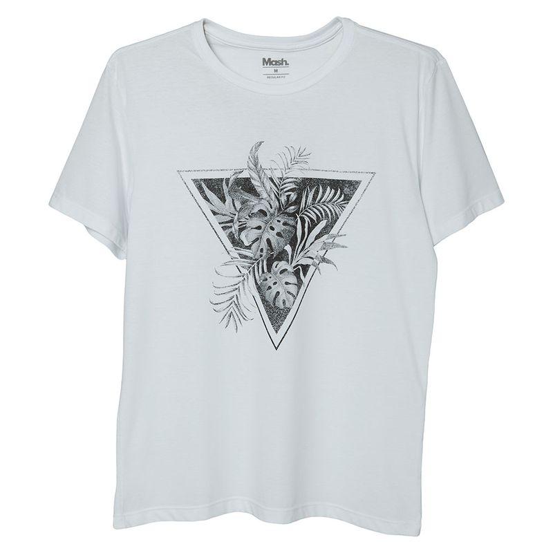 Camiseta Estampada Triangulo Branco Mash