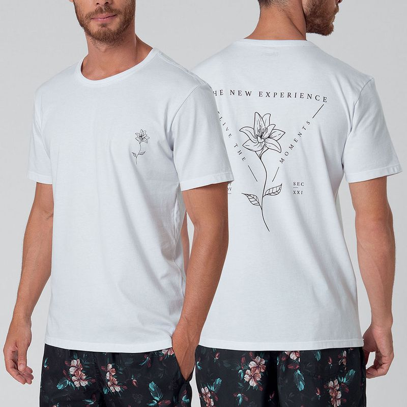 Camiseta Estampada Flor Mash
