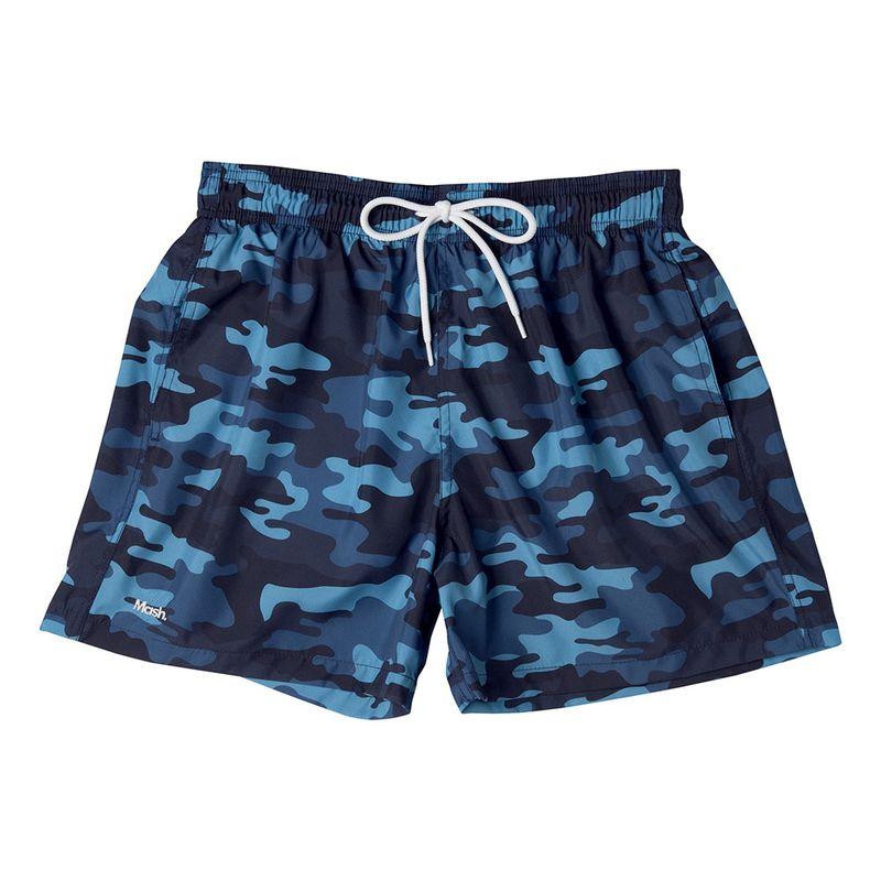 Shorts Curto Estampado Camuflado FPS 30 Azul Marinho Mash