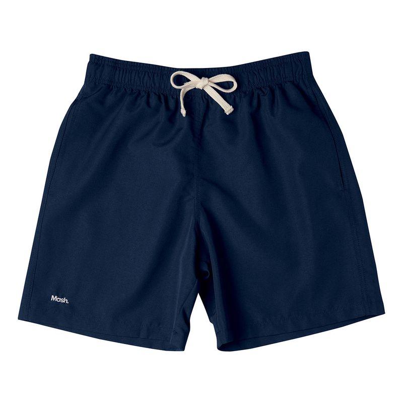 Shorts Casual Liso FPS 30 Azul Marinho Mash