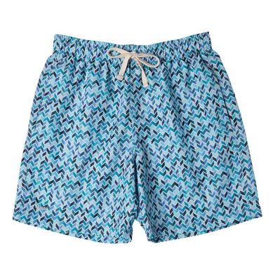Shorts Casual Estampado Geométrico FPS 30 Azul Marinho Mash