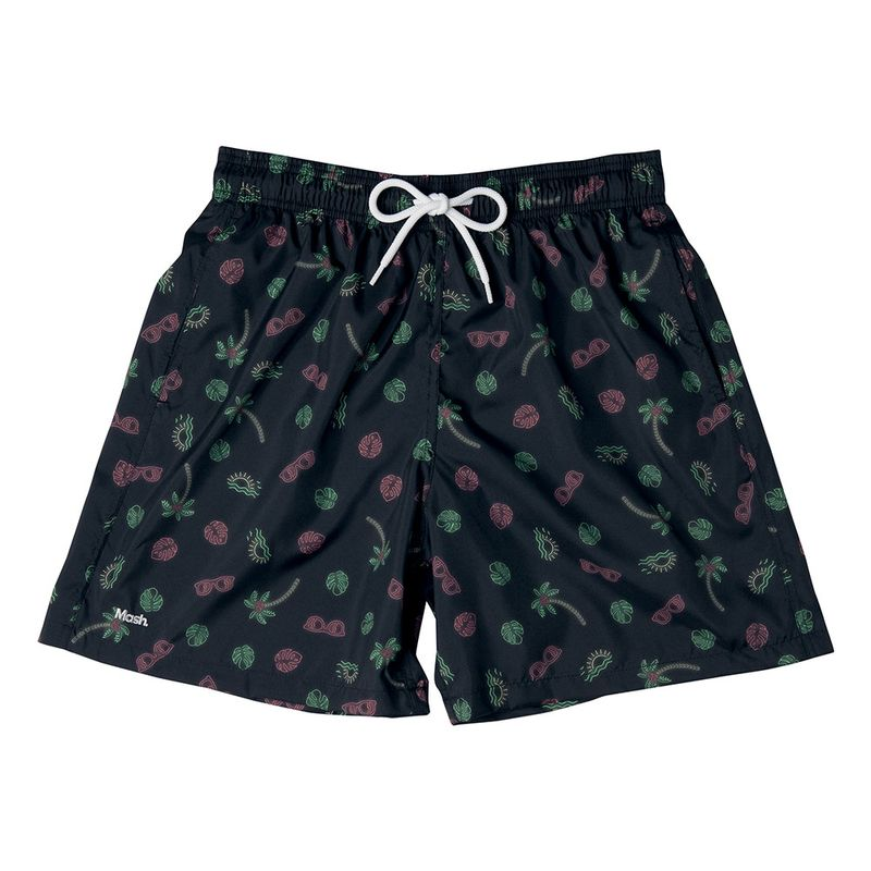 Shorts Estampado Neon Preto Mash