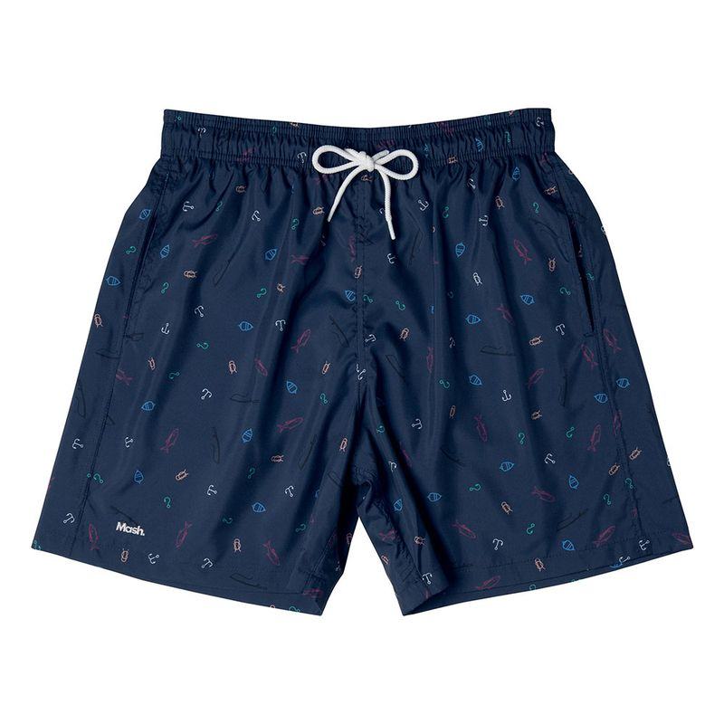 Shorts Estampado Mini Print FPS 30 Azul Marinho Mash