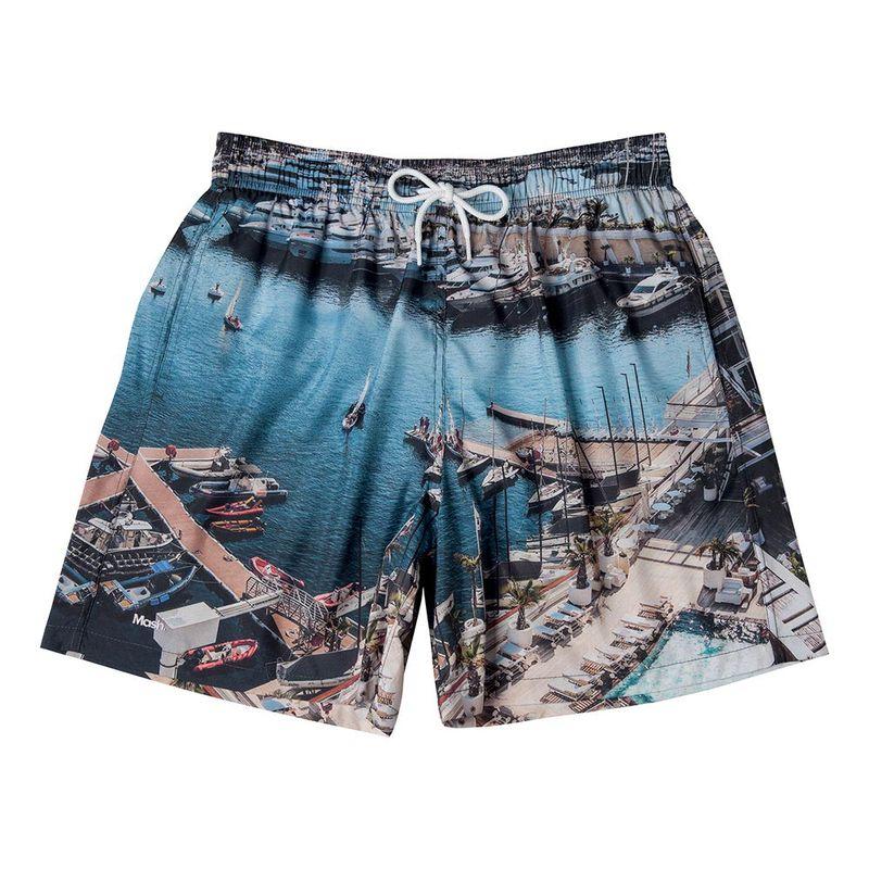 Shorts Estampado Paisagens FPS 30 Azul Claro Mash