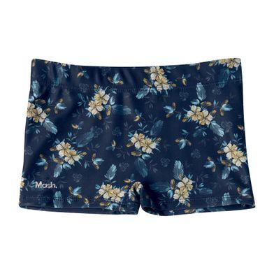 Sunga Boxer Estampada Floral-Infantil Azul Marinho Mash