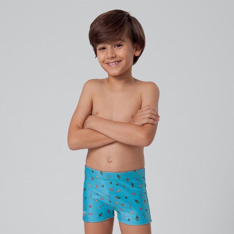 Sunga Boxer Estampada Infantil Mash