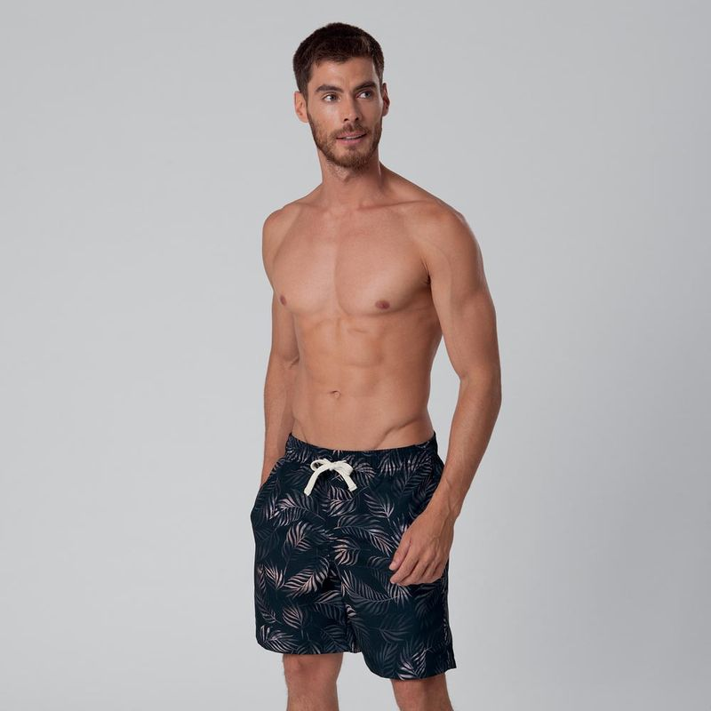 Shorts Casual Estampado Folhagem FPS 30 Mash