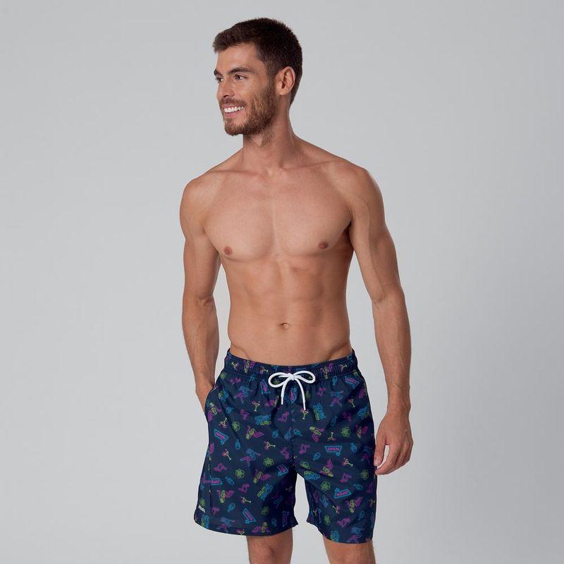 Shorts Estampado Neon Mash