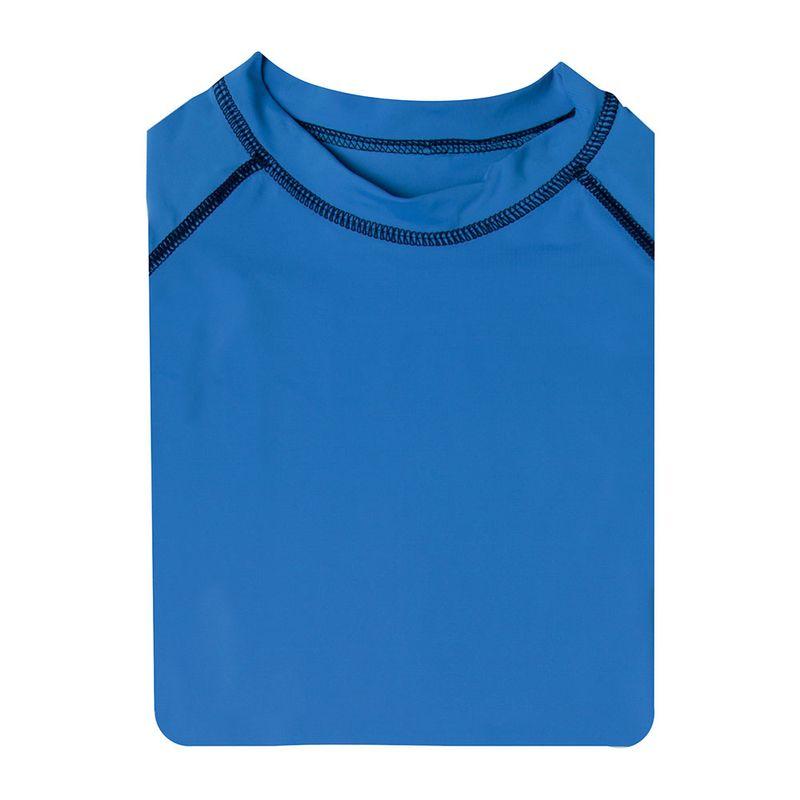 Camiseta Manga Longa com Protecao UV Infantil Azul Royal Mash