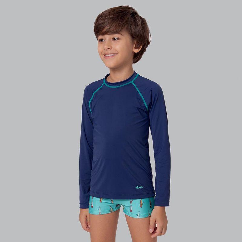 Camiseta Manga Longa com Protecao UV Infantil Mash