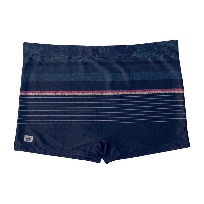 Sunga Boxer Estampada Listras Hang Loose Azul Marinho Mash