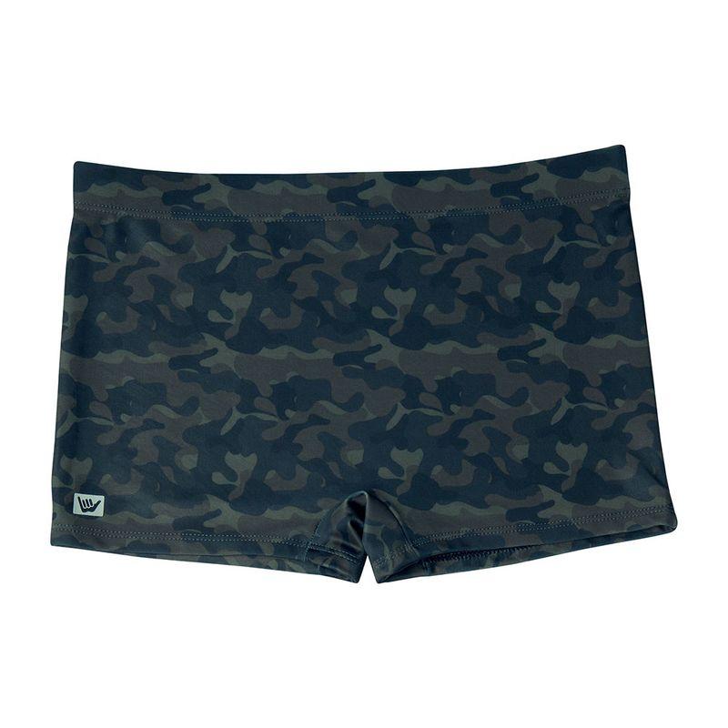 Sunga Boxer Estampada Camuflada Hang Loose Verde Militar Escuro Mash