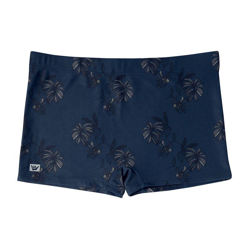 Sunga Boxer Estampada Floral Hang Loose Azul Marinho Mash