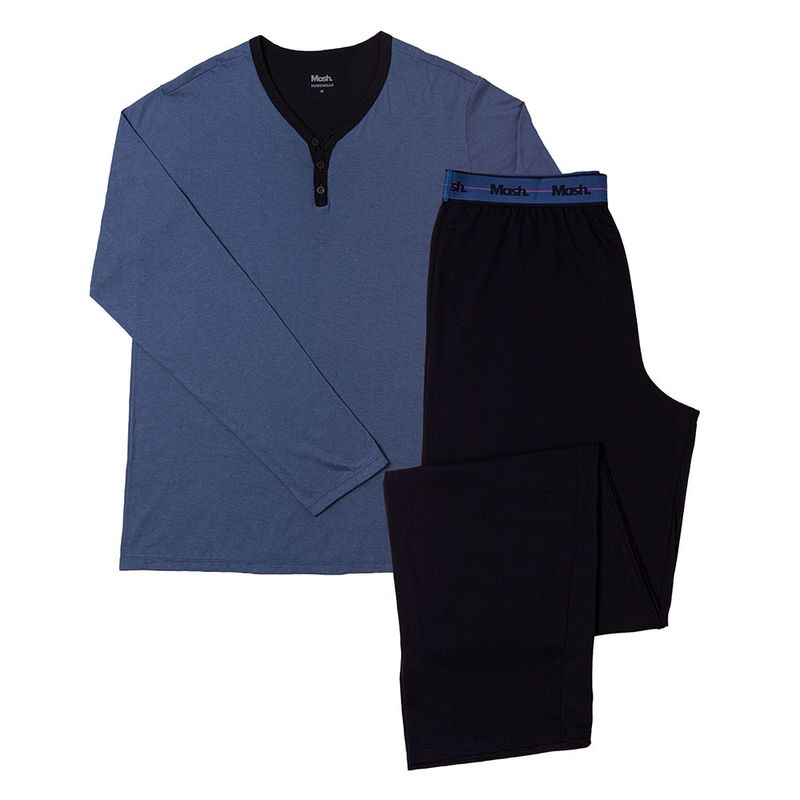 Pijama manga longa Gola Y Algodão