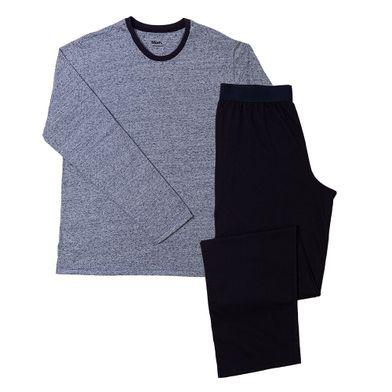 Pijama manga longa Gola Careca  Malha Botone