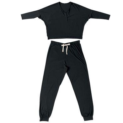 Conjunto Modal Blusa Mangal Longa e Calca Jogger She
