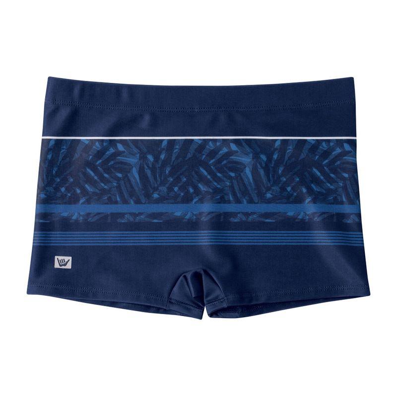 Sunga Boxer Hang Loose Folhas Azul Marinho