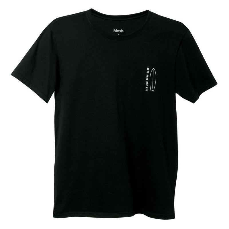 Camiseta Estampada Surf Preta