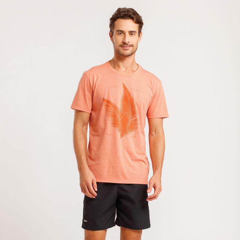 Camiseta Estampada Tropical
