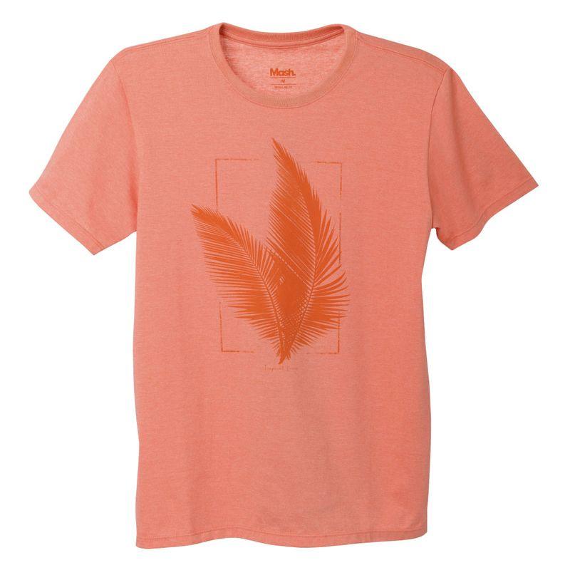 Camiseta Estampada Tropical Laranja